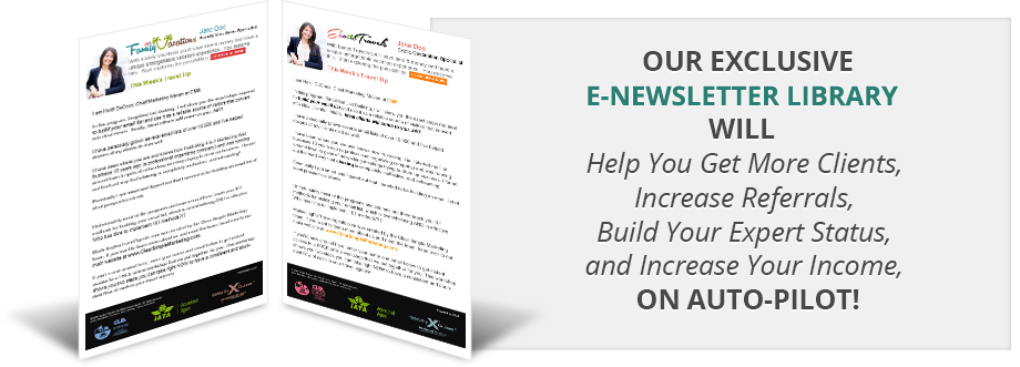 professionally written newsletter articles for travel agents